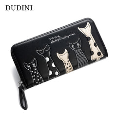Cute Cat Cartoon PU Leather Casual Ladies Clutch