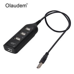4 Ports USB 2.0 USB Hub Adapter Data Cable USB Port