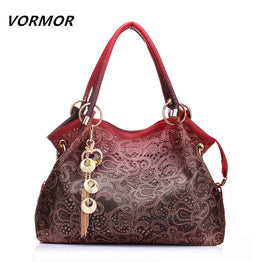 VORMOR Leather Tote Bag Luxury Women Fashion Shoulder bags