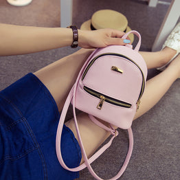 New Style Leather Mini Backpack for Teenage girls