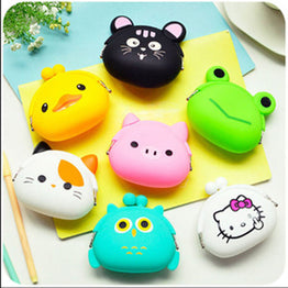 Candy Color Animal Cartoon New Fashion Jelly Silicone Coin Bag