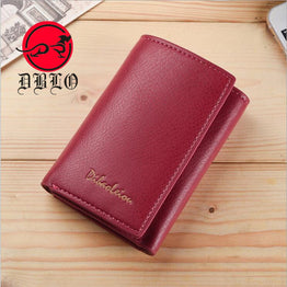 Stylish PU Leather Mini Hasp Design Wallet for Women