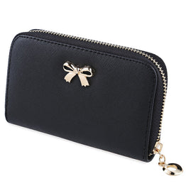 Korean Bownot Candy Colors Zipper Women's Wallet
