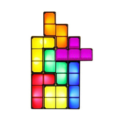 Tetris Shape LED Nights Lights Puzzle Wall Lamp Romantic Light