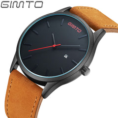 GIMTO Stylish Men Luxury Brand Men's quartz-watch Waterproof