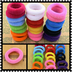 Child baby Small Rubber Bands Elastic Ponytail Holders Hair Ring 80pcs/bag Quality 30mm