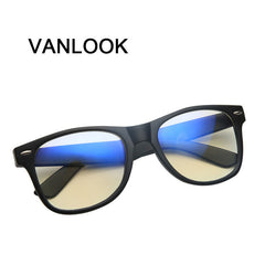Computer Spectacle Frame for Men Women Transparent Eyeglasses Blue Coating Antireflective Anti UV