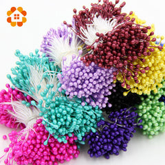 1 Bundle= (150PCS )Artificial Flower Double Heads Stamen Pearlized Craft Cards