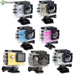 "A7 2.0"" LCD Action Camera HD 720P Sport Camera 90 Degree"