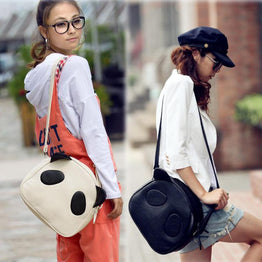 Cute Cartoon Panda PU Leather Cross Body Bag for Women