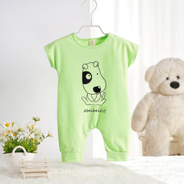 Newborn Cute Rompers for Baby Girl/Boy Dog Cat Print Playsuit