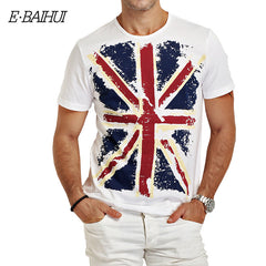 E-BAIHUI Brand Cotton Men Slim Fit T-Shirt