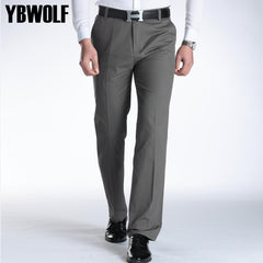 Leisure Men's Pants Cotton Washed Casual Male Straight Trousers 10 Colors Size29-40