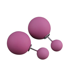 Double Sided Candy Colors Ball Stud for Women
