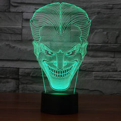 3D Amazing Illusion led Table Night Lamp with joker shape