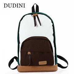 Panelled Canvas Casual Rucksack Backpacks For Teenagers