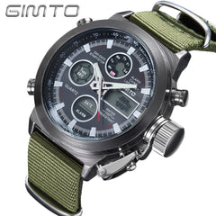 GIMTO LED Digital Sport Military Watch for Man