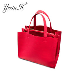 PU Leather Vintage Top-Handle Shoulder Bag for Women