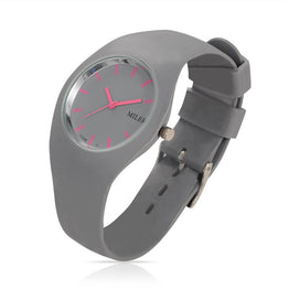 Women Silicone Band Colorful Quartz Sports Watch