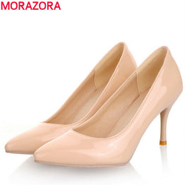 MORAZORA Fashion Sexy high heels women pumps classic wedding shoes