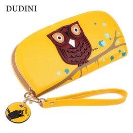 Cute Owl Stereoscopic Printed Round Shape Wallet for Women
