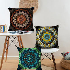 Bohemian Style Flower Mandala Linen Cotton Cushion/Pillow Case for Sofa