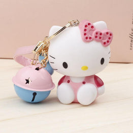 HELLO KITTY CUTE TINY BELLS CHARM KEYRING FOR BAG