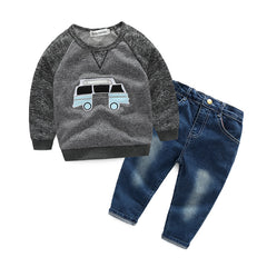 Stylistic Autumn Spring Design Clothing Set for Boys