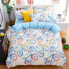 fashion bicycle queen/full/twin size bed linen set bedding set