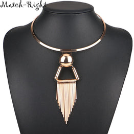 Trendy Tassel Statement Party Wear Necklace for Women