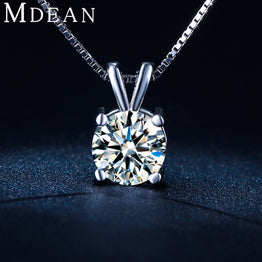 White gold plated CZ diamond Vintage Pendant Necklace for Women