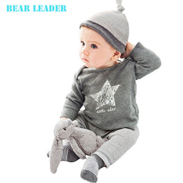 Bear Leader Winter&Autumn baby clothing set (Hat + T-shirt+pants)