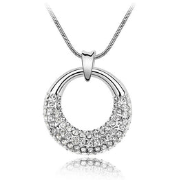 Elegant Crystal from Swarovski With SWA Elements Pendant Necklace