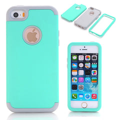 3-in-1 Impact Hard and Soft Silicone Hybrid Case for iPhone 5/5S/5C/SE
