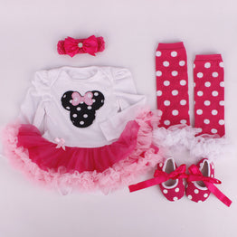 New arrival boutique baby girl tutu jumpsuit clothing sets