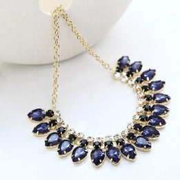 Gold Filled Crystal Rhinestone Decoration Necklace for Women