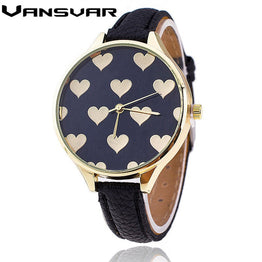 Fashion Love Heart Quartz Watch Casual Women Bracelet Watches