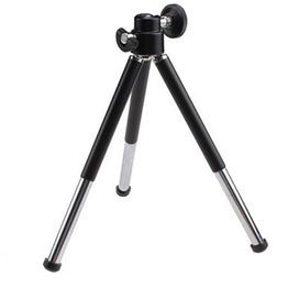 1pcs black Mini Tripod Aluminum Metal Lightweight Tripod Stand