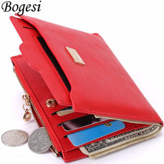 Coin Bag zipper women wallets brand purses thin wallet passport holder ID Card Case