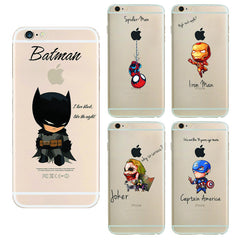 Raytheon Batman iron Soft Tpu Back Cover Phone Case For Apple Iphone 6 6s