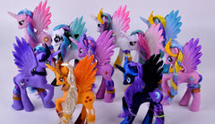 Horses Cute patroled PVC Unicorn Toy dolls
