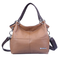Retro Women Leather Handbag Design Female Black Shoulder bag