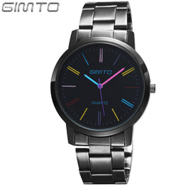 GIMTO Luxury brand reloj mujer stainless steel quartz women's watch