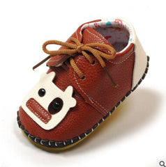 Fibre leather Soft outsole slip-resistant baby shoes