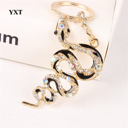 Fortune Cute Crystal New Snake Creative Charm Pendant Key Ring