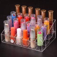 Hot 24 Lipstick Holder Display Stand Clear Acrylic Cosmetic Organizer