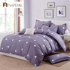 Printed Polyester Cotton Home Textile Geometric Design Bedding sets