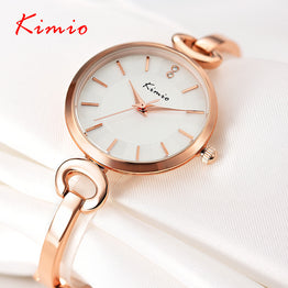 Lady Fashion Charming Gold Chain Style Quartz Watch for Women