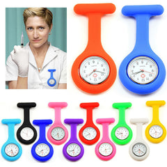 Silicone Nurses Brooch Fob Watches Medical Nurse Watch