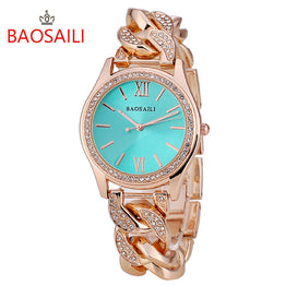 Stainless Steel Diamond Quartz Ladies WristWatch